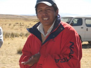Eloy Quiquisana, part of QBL's project team in Bolivia.