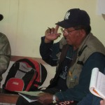Calari village leader during our meeting.